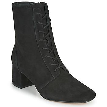kengät Naiset Nilkkurit Clarks SHEER55 LACE Musta