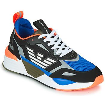 kengät Miehet Matalavartiset tennarit Emporio Armani EA7  Black / Blue / Orange