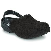 kengät Puukengät Crocs CLASSIC FUZZ MANIA CLOG Musta