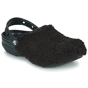 kengät Puukengät Crocs CLASSIC FUZZ MANIA CLOG Black