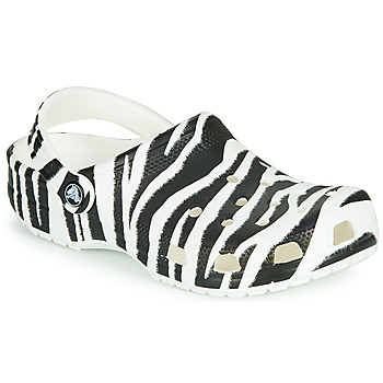 kengät Naiset Puukengät Crocs CLASSIC ANIMAL PRINT CLOG Oliivi / keltainen