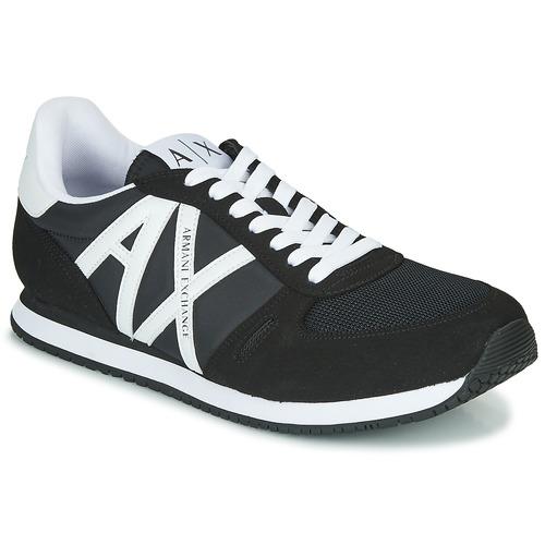 kengät Miehet Matalavartiset tennarit Armani Exchange XCC68-XUX017 Musta