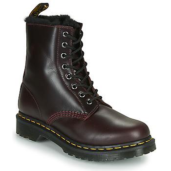 kengät Naiset Bootsit Dr Martens 1460 SERENA Viininpunainen