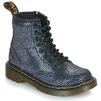 kengät Tytöt Bootsit Dr Martens 1460 J Black / Metallinen