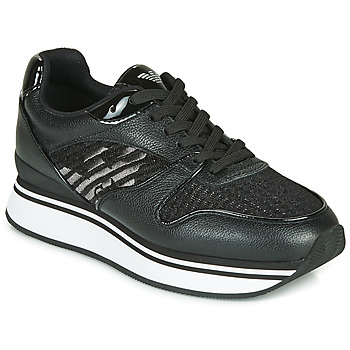 kengät Naiset Matalavartiset tennarit Emporio Armani X3X046-XM547 Black