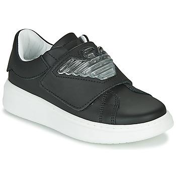 kengät Lapset Matalavartiset tennarit Emporio Armani XYX014-XOI08 Black