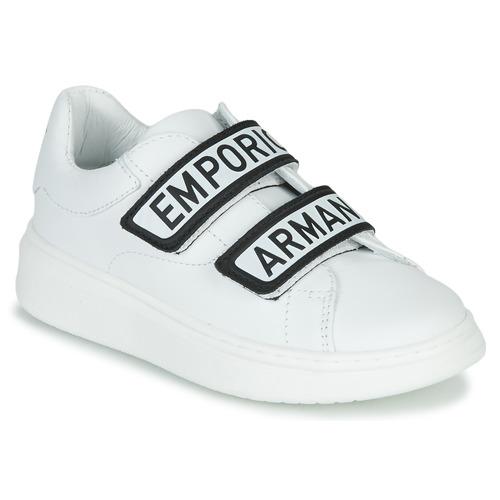 kengät Lapset Matalavartiset tennarit Emporio Armani XYX007-XCC70 White / Black