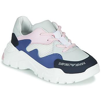 kengät Pojat Matalavartiset tennarit Emporio Armani XYX008-XOI34 White / Blue