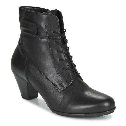 kengät Naiset Nilkkurit Gabor 5564427 Musta