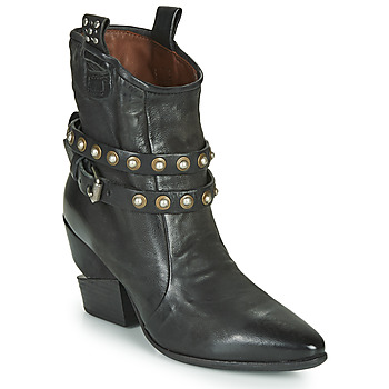kengät Naiset Nilkkurit Airstep / A.S.98 TINGET BUCKLE Musta