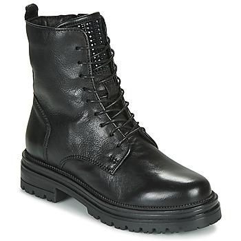 kengät Naiset Bootsit Mjus DOBLE LACE Musta