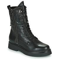 kengät Naiset Bootsit Mjus TRIPLE ZIP Black