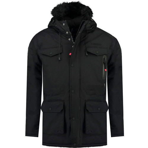 vaatteet Pojat Parkatakki Geographical Norway ALCALINE BOY Black