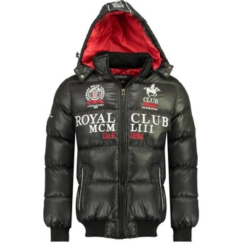 vaatteet Pojat Toppatakki Geographical Norway AVALANCHE BOY Black