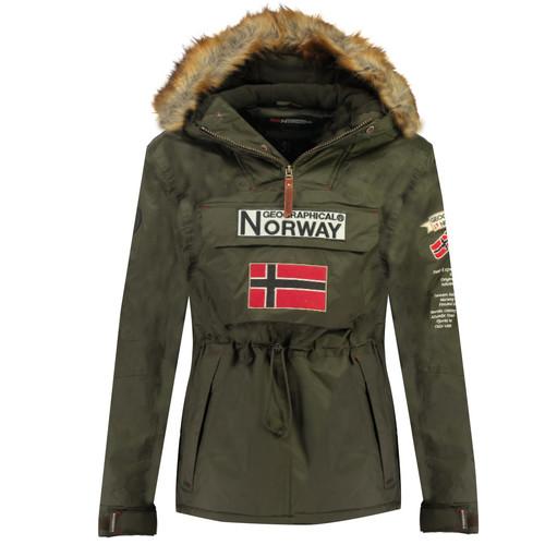 vaatteet Pojat Parkatakki Geographical Norway BARMAN BOY Kaki