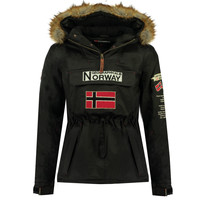 vaatteet Pojat Parkatakki Geographical Norway BARMAN BOY Black