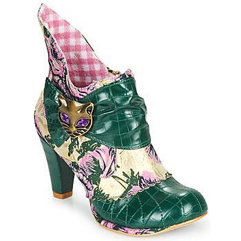 kengät Naiset Nilkkurit Irregular Choice MIAOW Vihreä