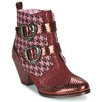 kengät Naiset Bootsit Irregular Choice TOO HEARTS Viininpunainen