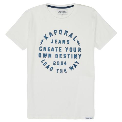 vaatteet Pojat Lyhythihainen t-paita Kaporal ORVAL White