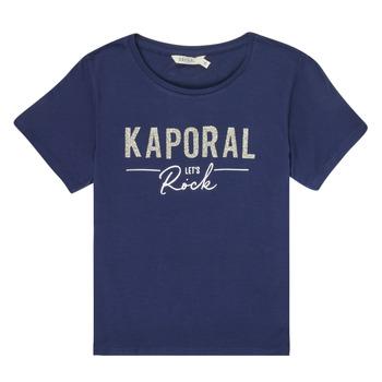 vaatteet Tytöt Lyhythihainen t-paita Kaporal MAPIK Laivastonsininen