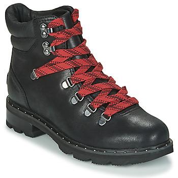 kengät Naiset Bootsit Sorel LENNOX HIKER Musta