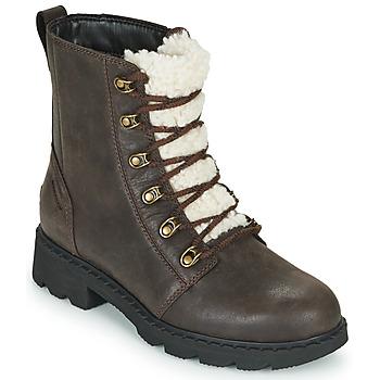 kengät Naiset Bootsit Sorel LENNOX LACE COZY Ruskea