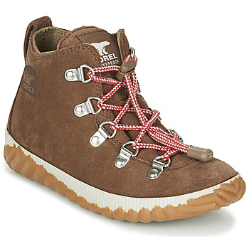 kengät Lapset Bootsit Sorel YOUTH OUT N ABOUT CONQUEST Brown