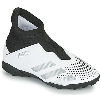 kengät Lapset Jalkapallokengät adidas Performance PREDATOR 20.3 LL TF White