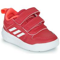 kengät Tytöt Matalavartiset tennarit adidas Performance TENSAUR I Pink / White