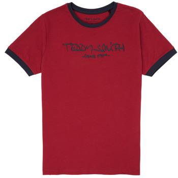 vaatteet Pojat Lyhythihainen t-paita Teddy Smith TICLASS 3 Red