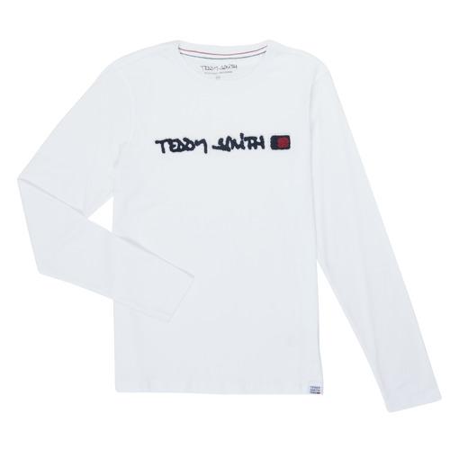 vaatteet Pojat T-paidat pitkillä hihoilla Teddy Smith CLAP White