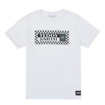 vaatteet Pojat Lyhythihainen t-paita Teddy Smith VANY Valkoinen