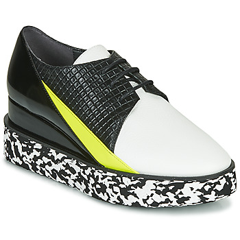 kengät Naiset Derby-kengät United nude SPARK DERBY Black / White / Yellow
