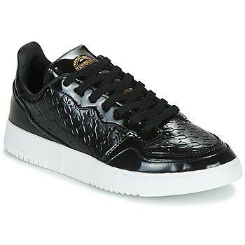kengät Naiset Matalavartiset tennarit adidas Originals SUPERCOURT W Musta