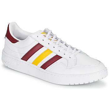 kengät Matalavartiset tennarit adidas Originals TEAM COURT White / Bordeaux / Yellow