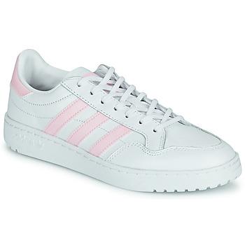 kengät Naiset Matalavartiset tennarit adidas Originals TEAM COURT W Valkoinen / Vaaleanpunainen