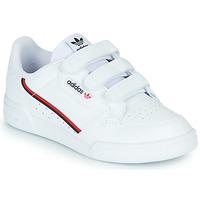 kengät Lapset Matalavartiset tennarit adidas Originals CONTINENTAL 80 CF C White