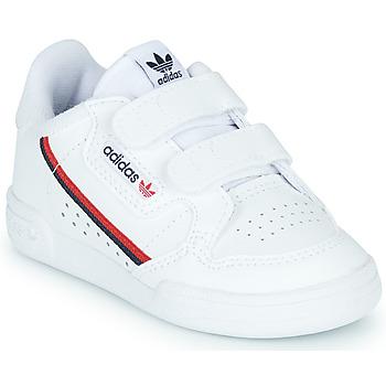 kengät Lapset Matalavartiset tennarit adidas Originals CONTINENTAL 80 CF I White