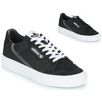 kengät Lapset Matalavartiset tennarit adidas Originals CONTINENTAL VULC J Musta