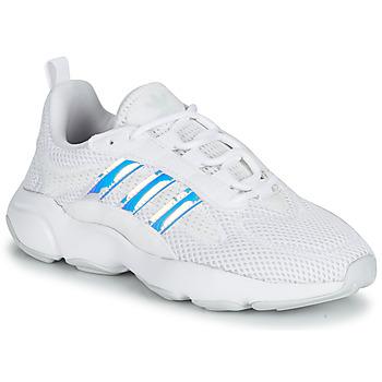 kengät Tytöt Matalavartiset tennarit adidas Originals HAIWEE J Valkoinen