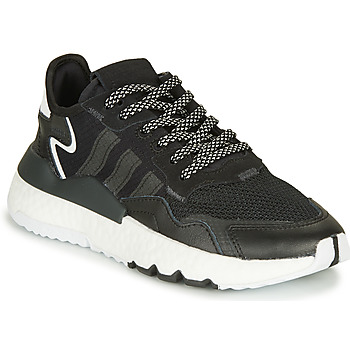 kengät Lapset Matalavartiset tennarit adidas Originals NITE JOGGER J Black
