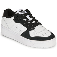 kengät Lapset Matalavartiset tennarit adidas Originals RIVALRY LOW J White / Black