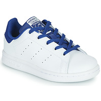 kengät Pojat Matalavartiset tennarit adidas Originals STAN SMITH C White