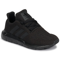 kengät Lapset Matalavartiset tennarit adidas Originals SWIFT RUN C Black