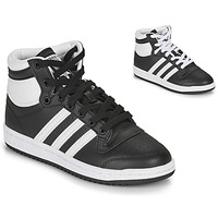 kengät Lapset Korkeavartiset tennarit adidas Originals TOP TEN J Black / White