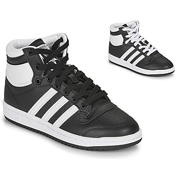 kengät Lapset Matalavartiset tennarit adidas Originals TOP TEN J Black / White