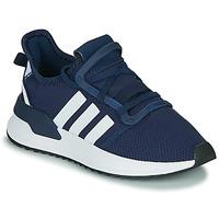 kengät Pojat Matalavartiset tennarit adidas Originals U_PATH RUN J Laivastonsininen / Valkoinen