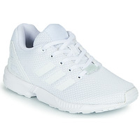 kengät Lapset Matalavartiset tennarit adidas Originals ZX FLUX C White