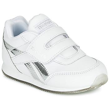 kengät Tytöt Matalavartiset tennarit Reebok Classic REEBOK ROYAL CLJOG White / Hopea