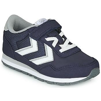 kengät Lapset Matalavartiset tennarit Hummel REFLEX JR Blue